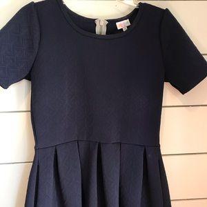 LuLaRoe Amelia Navy Blue dress